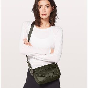 Lululemon Crossbody Shoulder Bag Olive Green
